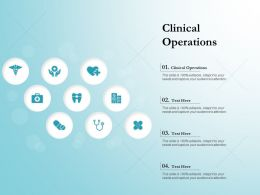 Clinical Operations Ppt Powerpoint Presentation Outline Graphics