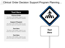 Clinical Order Decision Support Program Planning Policy Document Cpb