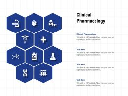Clinical Pharmacology Ppt Powerpoint Presentation Infographic Template Portrait