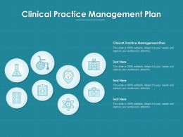Clinical Practice Management Plan Ppt Powerpoint Presentation Infographics Example