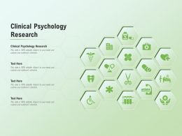 Clinical Psychology Research Ppt Powerpoint Presentation Icon Elements