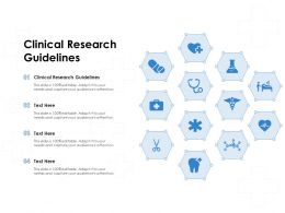 Clinical Research Guidelines Ppt Powerpoint Presentation Inspiration Examples