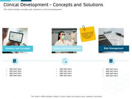 Clinical Research Marketing Strategies Clinical Development Concepts And Solutions Ppt Professional