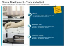 Clinical Research Marketing Strategies Clinical Development Track And Adjust Ppt Pictures