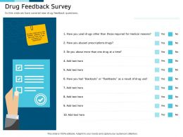Clinical Research Marketing Strategies Drug Feedback Survey Ppt Structure