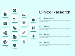 Clinical Research Ppt Powerpoint Presentation Portfolio Influencers