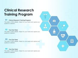 Clinical Research Training Program Ppt Powerpoint Presentation Infographic Template