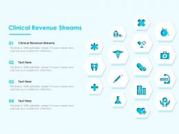 Clinical Revenue Streams Ppt Powerpoint Presentation Styles Summary
