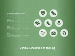 Clinical Simulation In Nursing Ppt Powerpoint Presentation Pictures Icons