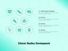 Clinical Studies Development Ppt Powerpoint Presentation Styles Infographics