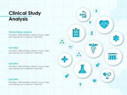 Clinical Study Analysis Ppt Powerpoint Presentation Model Graphics Example