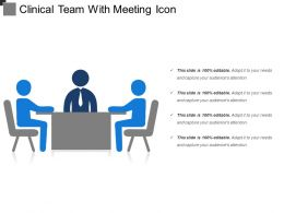 Clinical Team With Meeting Icon
