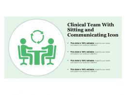 Clinical Team With Sitting And Communicating Icon