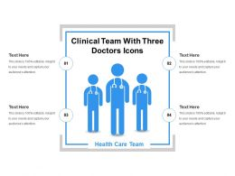 Clinical Team With Three Doctors Icons