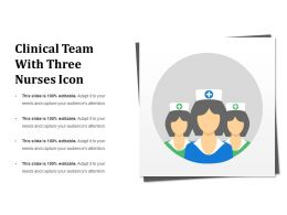 Clinical Team With Three Nurses Icon