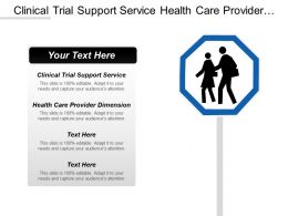 Clinical Trial Support Service Health Care Provider Dimension Cpb