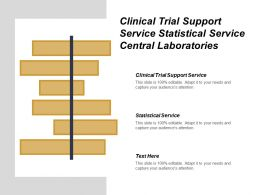 Clinical Trial Support Service Statistical Service Central Laboratories
