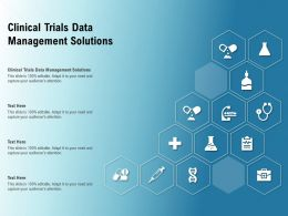 Clinical Trials Data Management Solutions Ppt Powerpoint Presentation Portfolio Graphics