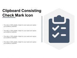 Clipboard Consisting Check Mark Icon