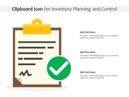 Clipboard Icon For Inventory Planning And Control