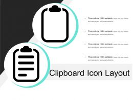 Clipboard Icon Layout