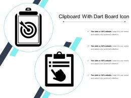 Clipboard With Dart Board Icon