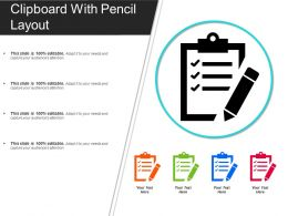 Clipboard With Pencil Layout