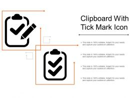 Clipboard With Tick Mark Icon