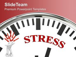 Clock And 3d Man With Word Stress PowerPoint Templates PPT Themes And Graphics 0213