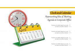 Clock And Calendar Representing Idea Of Meeting Agenda In Corporate Office