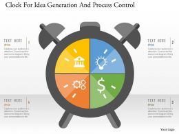 Clock For Idea Generation And Process Control Flat Powerpoint Design