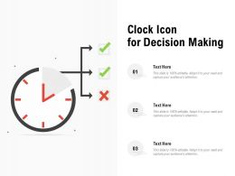 Clock Icon For Decision Making