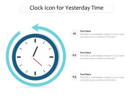 Clock Icon For Yesterday Time