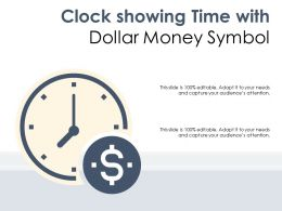 Clock Showing Time With Dollar Money Symbol
