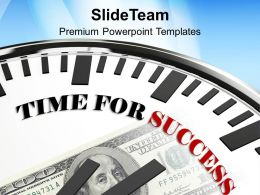 Clock Time For Success Future Goal Powerpoint Templates Ppt Themes And Graphics