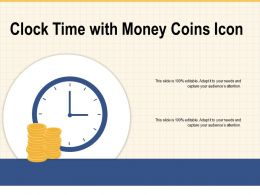 Clock Time With Money Coins Icon