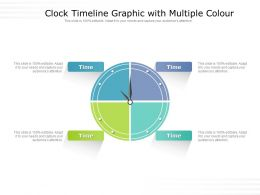 Clock Timeline Graphic With Multiple Colour