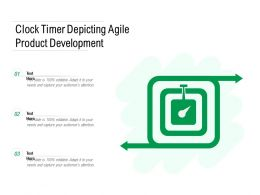Clock Timer Depicting Agile Product Development