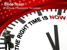 Clock With Right Time Is Now Business Powerpoint Templates Ppt Themes And Graphics 0213