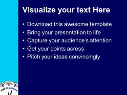 Clock With Word Time To Improve Powerpoint Templates Ppt Backgrounds For Slides 0213