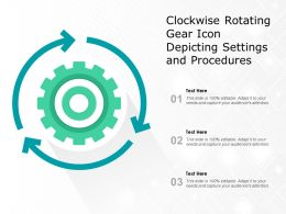 Clockwise Rotating Gear Icon Depicting Settings And Procedures