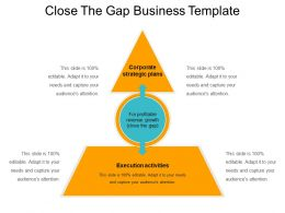 Close The Gap Business Template