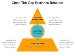 Close The Gap Business Template