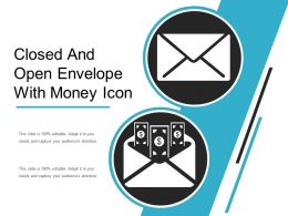 Closed And Open Envelope With Money Icon
