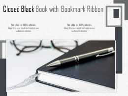 Closed Black Book With Bookmark Ribbon