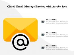Closed Email Message Envelop With Arroba Icon