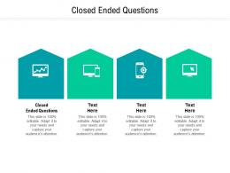 Closed Ended Questions Ppt Powerpoint Presentation Model Guidelines Cpb