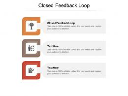 Closed Feedback Loop Ppt Powerpoint Presentation Layouts Ideas Cpb