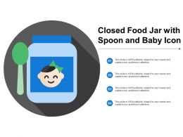 Closed Food Jar With Spoon And Baby Icon