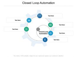 Closed Loop Automation Ppt Powerpoint Presentation Styles Designs Download Cpb